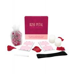 Juego de seducción pétalos de rosa